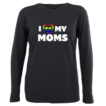 I Heart my Moms LGBT Plus Size Long Sleeve Tee
