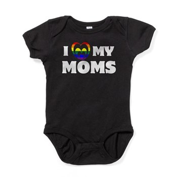I Heart my Moms LGBT Baby Bodysuit