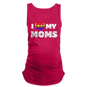 I Heart my Moms LGBT Maternity Tank Top