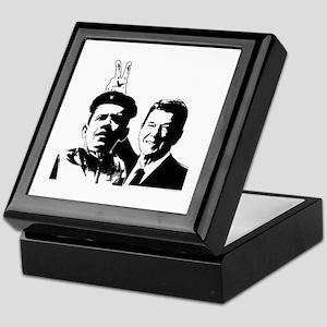 Ron Gives Obama the Rabbit Ears Keepsake Box