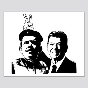 Ron Gives Obama the Rabbit Ears Small Poster
