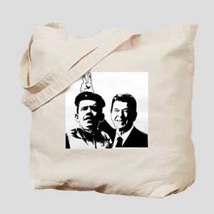 Ron Gives Obama the Rabbit Ears Tote Bag