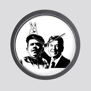 Ron Gives Obama the Rabbit Ears Wall Clock