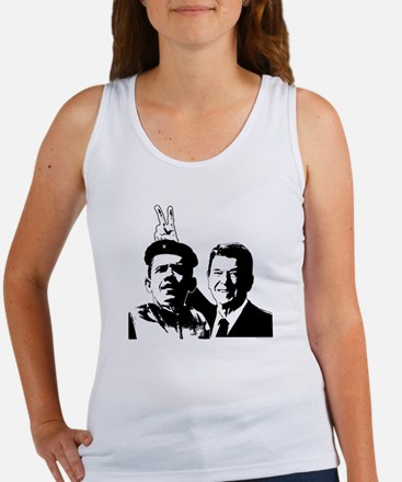 Ron Gives Obama the Rabbit Ears Women's Tank Top