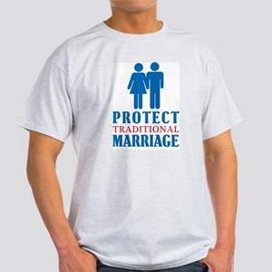 Protect Traditional Marriage Ash Grey T-Shirt
