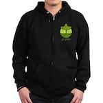Go Green Zip Hoodie (dark)