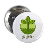 "Go Green 2.25"" Button (100 pack)"