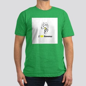 """I Love Bananas"" Men's Fitted T-Shirt (dark)"