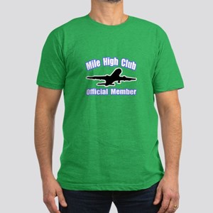 """""""Mile High Club"""" Men's Fitted T-Shirt (dark)"""
