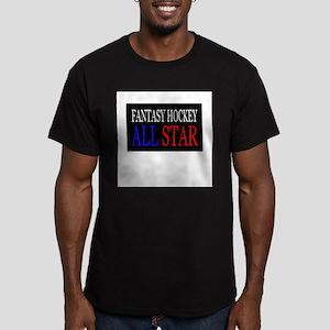"""Fantasy Hockey All Star"" Men's Fitted T-Shirt (da"