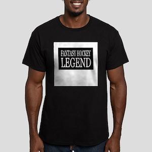 """Fantasy Hockey Legend"" Men's Fitted T-Shirt (dark"