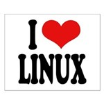 I Love Linux Small Poster