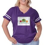 GCGLOGO2 Women's Plus Size Football T-Shirt