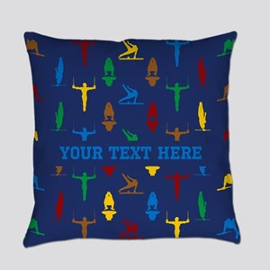 Personalized Gymnastics Everyday Pillow