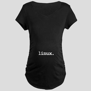 linux. Maternity Dark T-Shirt