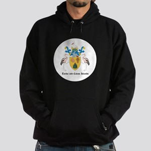 Turkmen Coat of Arms Seal Hoodie (dark)