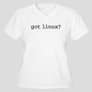 got linux? Women's Plus Size V-Neck T-Shirt