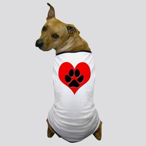 Love Dog Heart and Pawprint T-Shirt