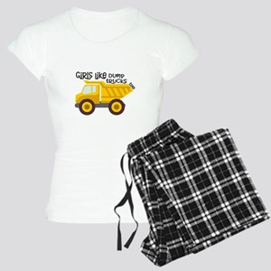 Girls Like Dump Trucks Too Women's Light Pajamas