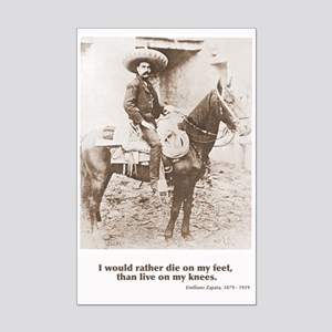 Emiliano Zapata Quote on Horseback Poster Print