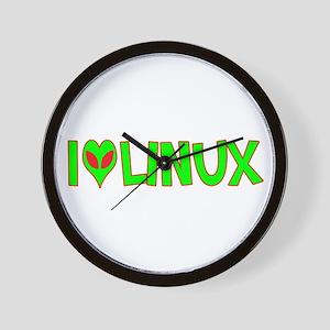 I Love-Alien Linux Wall Clock