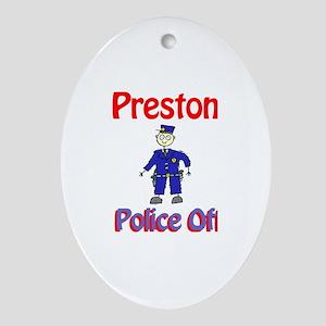 Preston - Police Officer Oval Ornament