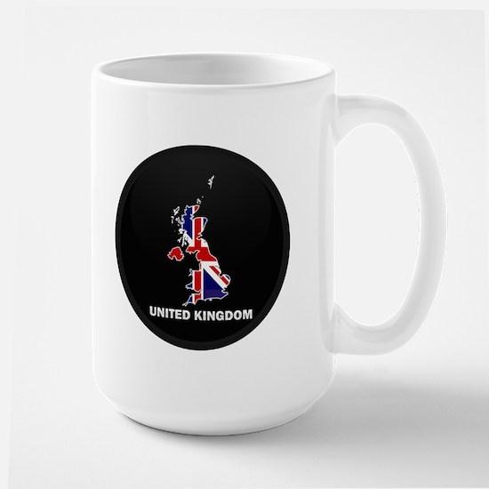Flag Map of United Kingdom Large Mug