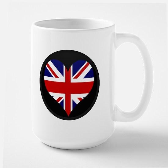 I love United Kingdom Flag Large Mug