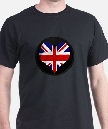 I love United Kingdom Flag T-Shirt