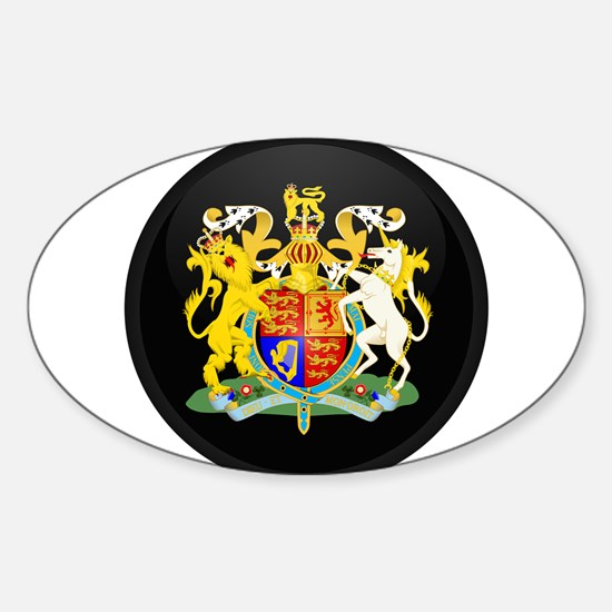 Coat of Arms of United Kingd Oval Decal
