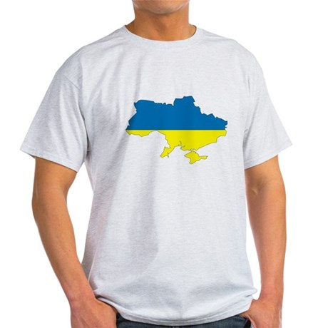 ukraine Flag Map Light T-Shirt