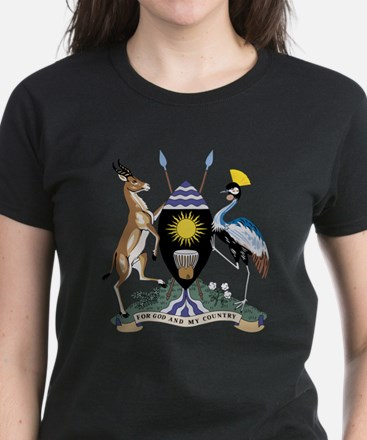 uganda Coat of Arms Women's Dark T-Shirt
