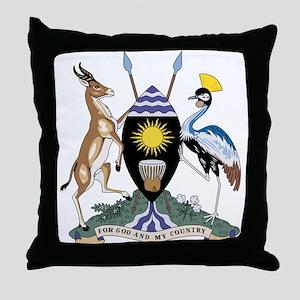 uganda Coat of Arms Throw Pillow