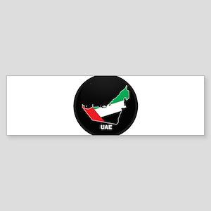 Flag Map of UAE Bumper Sticker