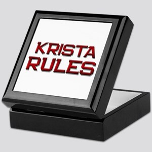 krista rules Keepsake Box