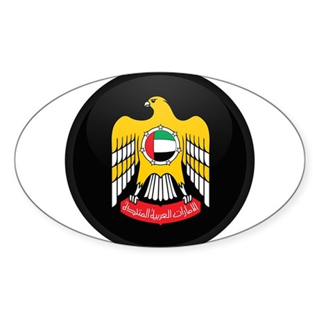 Coat of Arms of UAE Oval Sticker