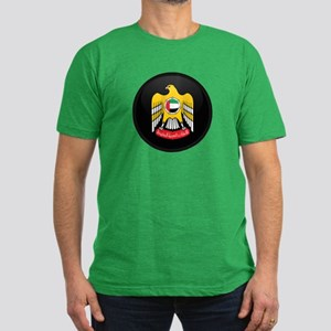 Coat of Arms of UAE Men's Fitted T-Shirt (dark)