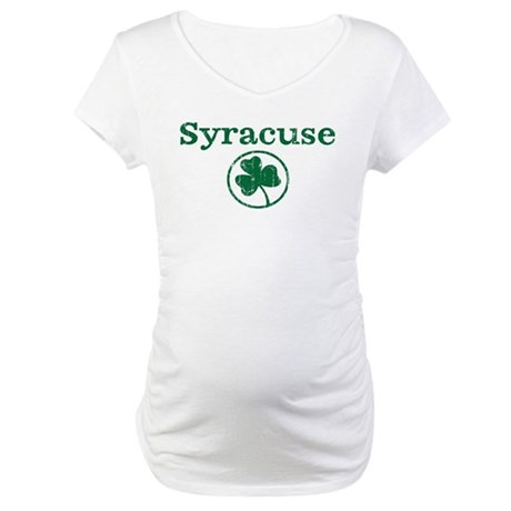 Syracuse shamrock Maternity T-Shirt