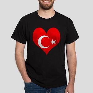 I Love Turkey Dark T-Shirt