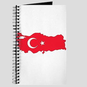 Turkey Flag Map Journal