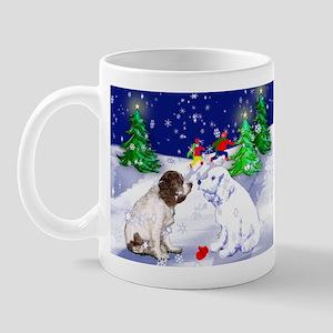 Springer Spaniel and snow Mug
