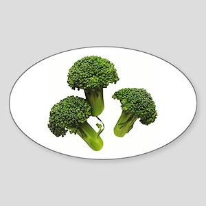Broccoli Oval Sticker