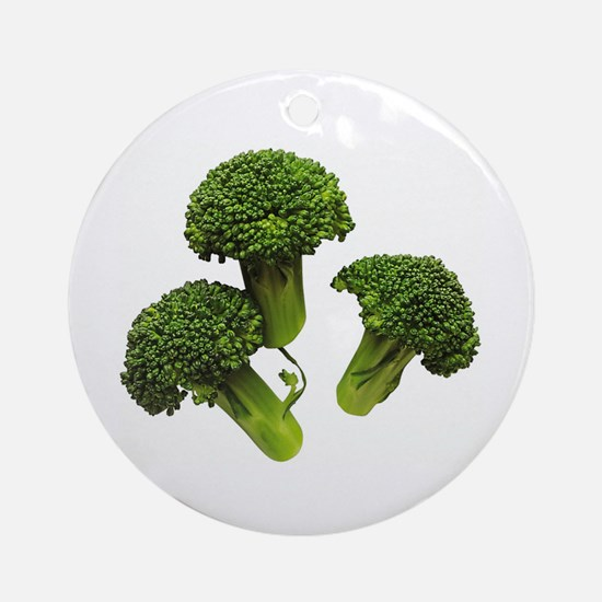 Broccoli Ornament (Round)