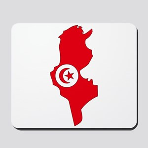 Tunisia Flag Map Mousepad