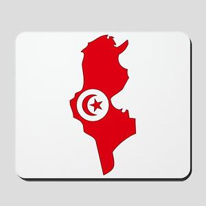 Tunisia Flag Map Mousepad