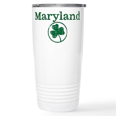 Maryland shamrock Stainless Steel Travel Mug