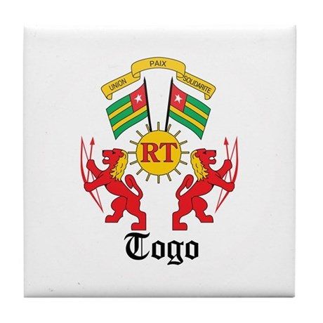 Togolese Coat of Arms Seal Tile Coaster