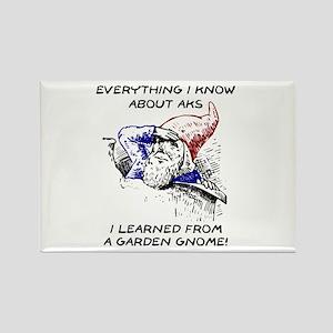 Aks & Garden Gnomes Rectangle Magnet