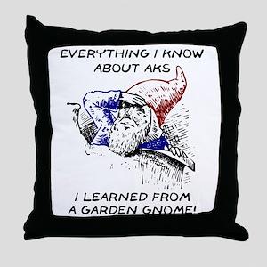 Aks & Garden Gnomes Throw Pillow