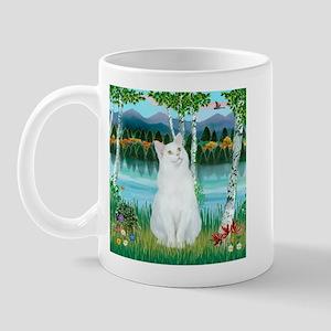 Birches / (White) Cat Mug
